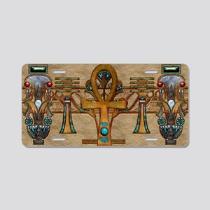 Harvest Moons Ankh Aluminum License Plate