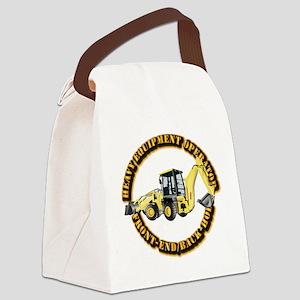 Hvy Eq Opr - Front End/Backhoe Canvas Lunch Bag