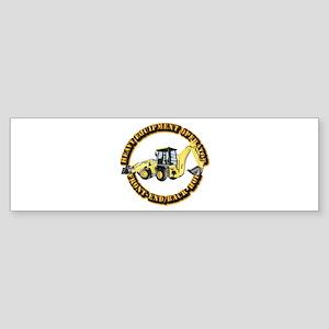 Hvy Eq Opr - Front End/Backhoe Sticker (Bumper)