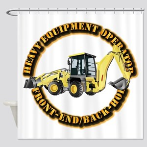 Hvy Eq Opr - Front End/backhoe Shower Curtain