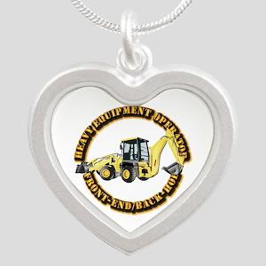 Hvy Eq Opr - Front End/Backh Silver Heart Necklace