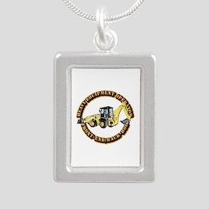 Hvy Eq Opr - Front End/B Silver Portrait Necklace