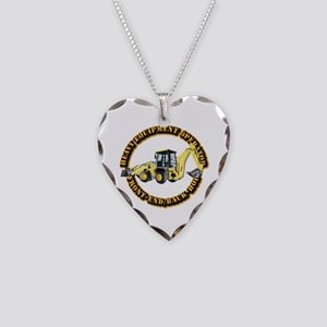 Hvy Eq Opr - Front End/Backho Necklace Heart Charm