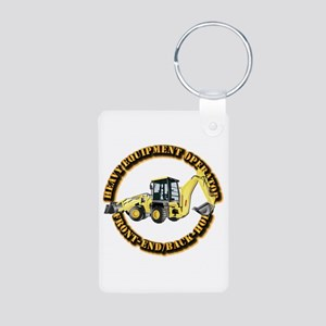 Hvy Eq Opr - Front End/Bac Aluminum Photo Keychain