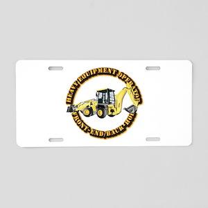 Hvy Eq Opr - Front End/Back Aluminum License Plate