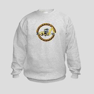 Hvy Eq Opr - Front End/Backhoe Kids Sweatshirt