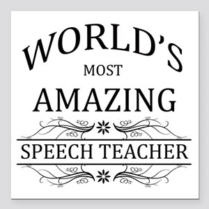"""World's Most Amazing Spe Square Car Magnet 3"""" x 3"""""""