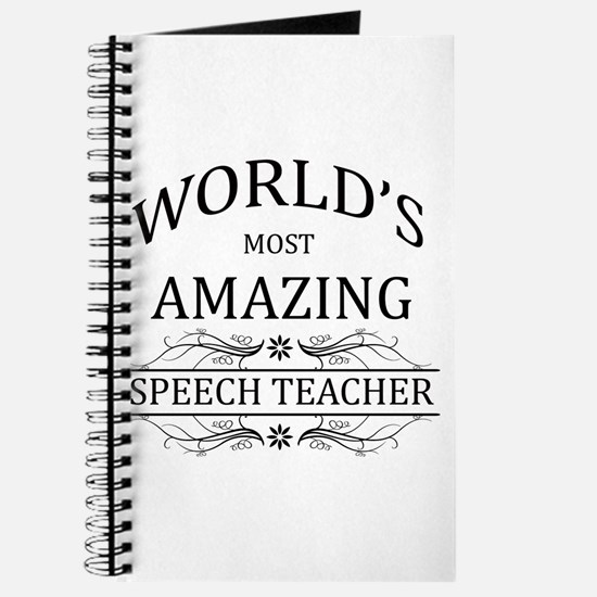 World's Most Amazing Speech Teacher Journal