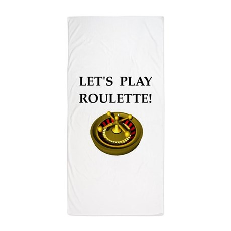 Roulette beach towel ho slot car track cleaning