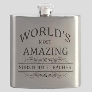 World's Most Amazing Substitute Teacher Flask