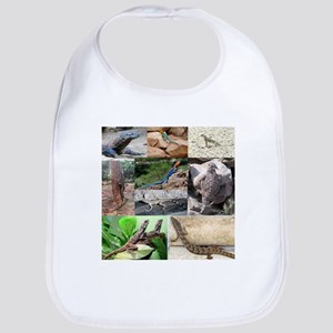Lizard Types full Color Cotton Baby Bib