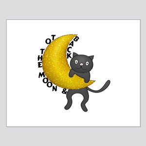To The Moon & Back Kitty Cat Small Poster