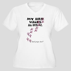 My Bird Walks... Women's Plus Size V-Neck T-Shirt