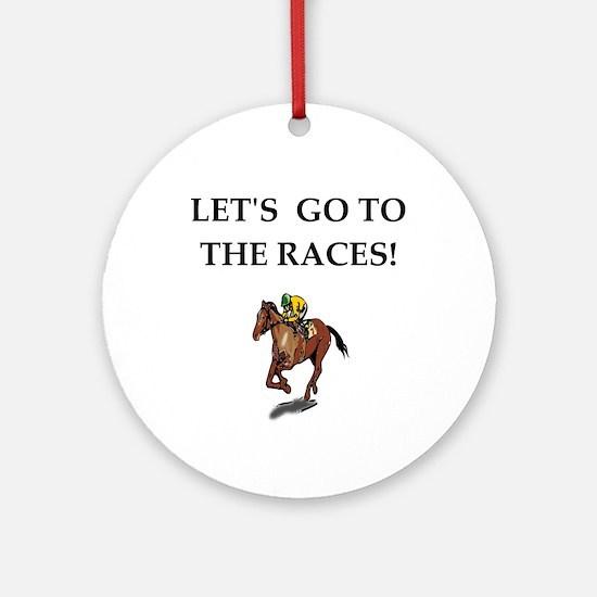 Horse Racing (round) Round Ornament