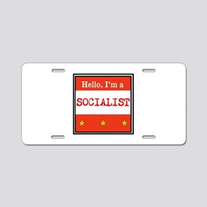 Hello, I'm a Socialist Aluminum License Plate