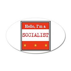 Hello, I'm a Socialist Wall Decal