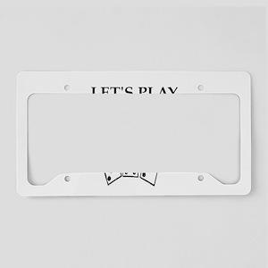 dominoes License Plate Holder