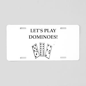 dominoes Aluminum License Plate