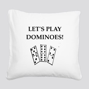 dominoes Square Canvas Pillow