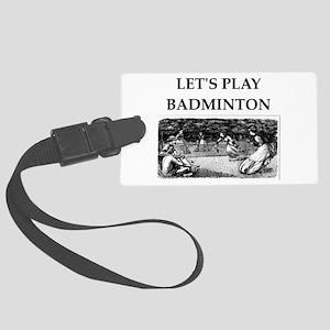 badminton Luggage Tag