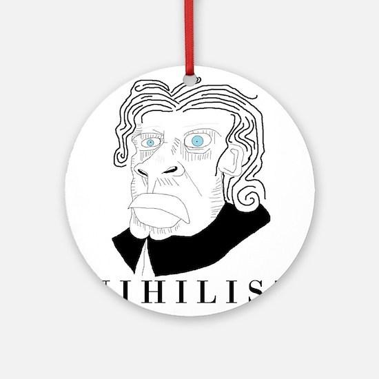 Nihilist Philosophy Ornament (Round)