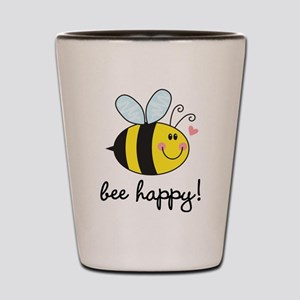 Bee Happy Shot Glass