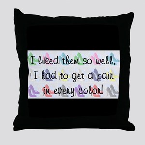 A pair in every color Throw Pillow