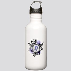 Lymphedema Grunge Ribb Stainless Water Bottle 1.0L