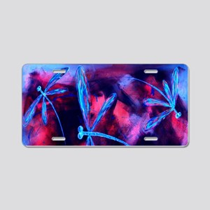 Dragonfly Cherry Splash Aluminum License Plate