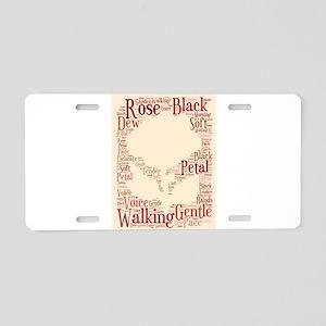 Rose In A Walking Garden Aluminum License Plate