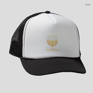 Happy Hanukkah Customized Kids Trucker hat