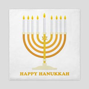 Happy Hanukkah Customized Queen Duvet