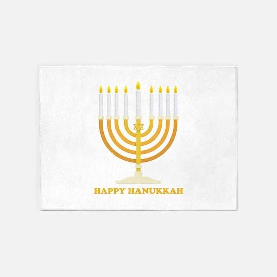 Happy Hanukkah Customized 5'x7'Area Rug