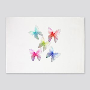Colorful flowering butterflies. Floral photo art.