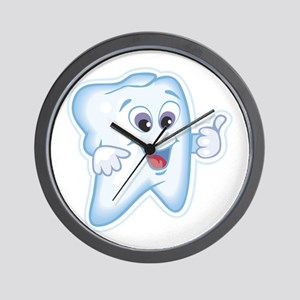 Healthy Happy Tooth Dentist Wall Clock