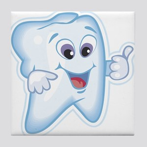Healthy Happy Tooth Dentist Tile Coaster