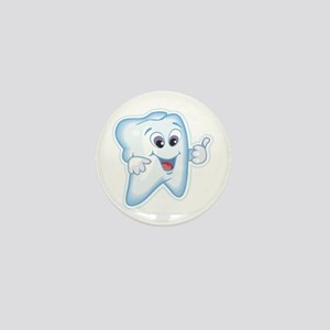 Healthy Happy Tooth Dentist Mini Button