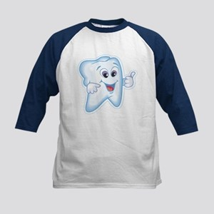 Healthy Happy Tooth Dentist Kids Baseball Jersey