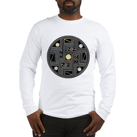 MIMBRES MAZES BOWL DESIGN Long Sleeve T-Shirt