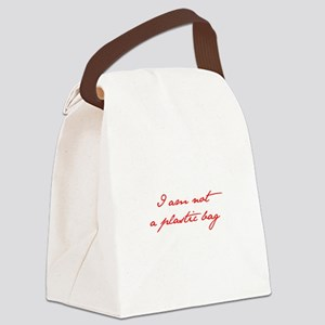 I-am-not-plastic-bag-jan-red Canvas Lunch Bag