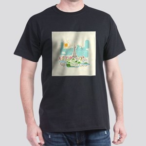 Abstract Paris City Skyline Travel Europe T-Shirt
