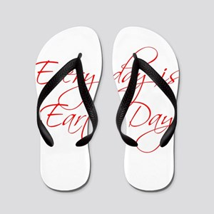 every-day-is-earth-day-scr-red Flip Flops