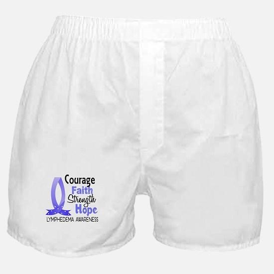 Lymphedema Courage Faith 1 Boxer Shorts