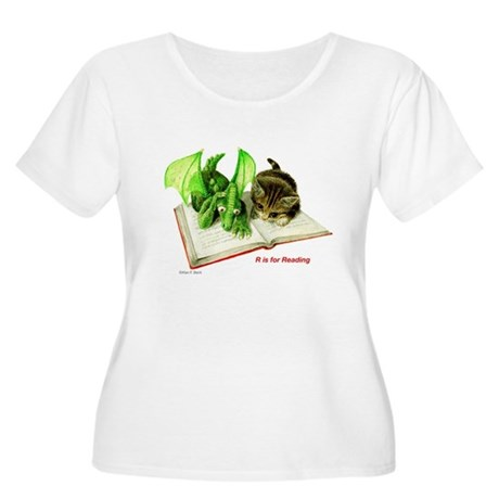 R is for Reading Women's Plus Size Scoop Neck T-