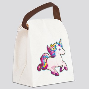 Kawaii Magical Candy Unicorn Canvas Lunch Bag