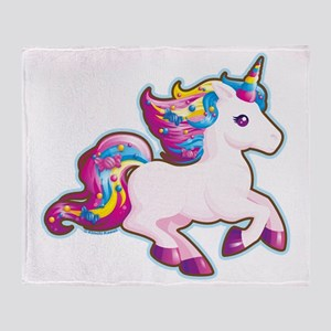 Kawaii Magical Candy Unicorn Throw Blanket