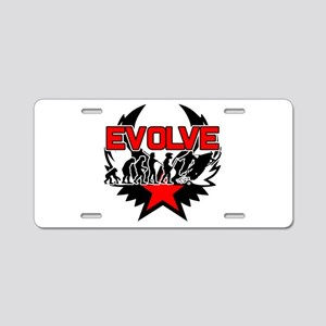 Snowmobile Evolution Aluminum License Plate