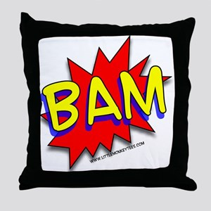 BAM Comic saying Throw Pillow