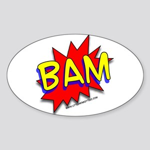 BAM Comic saying Oval Sticker