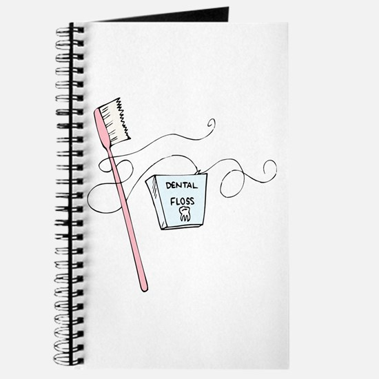 Toothbrush And Floss Dentist Journal